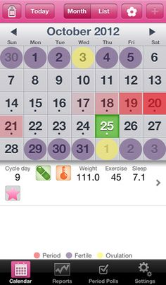 Period Tracker With Mood Fertility  Birth Control Pill Diary