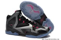 For Sale Black/Metallic Silver-Dark Grey-Pink Flash Nike LeBron 11 Miami Nights