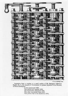 Difference Engine No.1, Woodcut, 1853