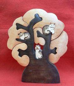 Artesanato Paraty - Artesanato em madeira: Árvore 002 22 x18 R$ 50,00