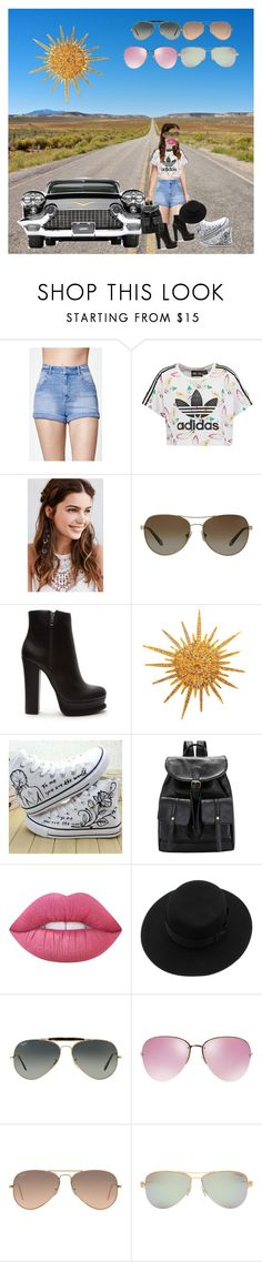 """Shades of You: Sunglass Hut Contest Entry"" by fashionforwardfaith ❤ liked on Polyvore featuring Kendall + Kylie, adidas Originals, REGALROSE, Tiffany & Co., Forever 21, Chanel, HVBAO, Lime Crime, Ray-Ban and Miu Miu"