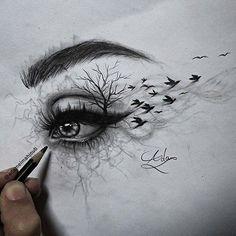 Yourstrulykitkat ♡ eye art, drawing sketches, sketches of eyes, drawing dra Cool Art Drawings, Pencil Art Drawings, Art Drawings Sketches, Colorful Drawings, Sketches Of Eyes, Eye Pencil Drawing, Drawing Pictures, Amazing Drawings, Beautiful Drawings