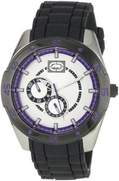 62dbd3013b5 Marc Ecko Men s E13515G2 The Phase Silver Dial Resin Strap Watch by Marc  Ecko