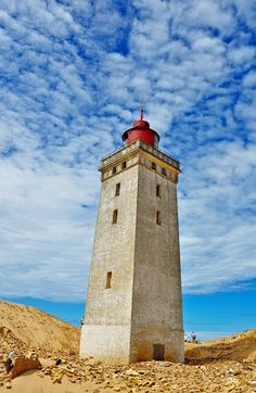 Rubjerg Knude Lighthouse, Lonstrup, Denmark. More about Rubjerg Knude: http://www.visitnordjylland.com/ln-int/nature/rubjerg-knude-fyr