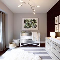 Bring your baby girl home to an adorable and functional nursery. Here are some baby girl nursery design ideas for all of your decor, bedding, and furniture. Baby Bedroom, Baby Boy Rooms, Baby Boy Nurseries, Nursery Room, Girl Nursery, Girl Room, Chic Nursery, Nursery Decor, Baby Decor