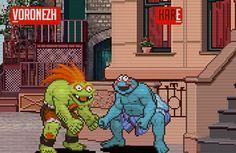 Sesame Street fighter... haha!!!