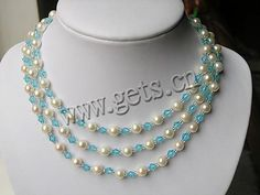 Cultured-Sea-Pearl-Necklace--with-silver-clasp--6.5-7mm--AA-Grade
