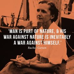 'Man is part of nature and his war against nature is inevitably a war against himself.' - Rachel Carson (The School Of Life) #Quote