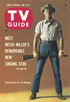 """TV Guide, January 20, 1962 - Chuck Connors of """"The Rifleman"""""""