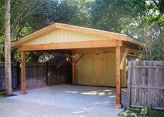 Carports on pinterest car ports double carport and pergolas Carport with storage room