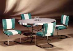 chrome and formica dining sets modern chrome dinette set repinned from retro dinette sets. Black Bedroom Furniture Sets. Home Design Ideas