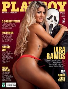 Panicat Iara Ramos nua na Playboy