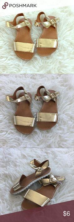 Cherokee Girls 6 Toddler Gold Velcro Sandals Cherokee Girls 6 Baby Gold Velcro Sandals Shoes Sandals & Flip Flops
