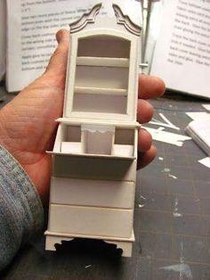 Dollhouse Miniature Furniture - Tutorials | 1 inch minis: ladies secretary by…