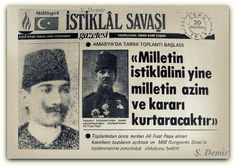 Mustafa Kemal Atatürk Amasya'da. 20.06.1919 Newspaper Headlines, Olay, Once Upon A Time, Event Ticket, History, Pictures, Historia, Ouat
