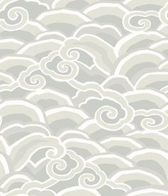 Brewster Home Fashions Decowave Wallpaper - 396 Coastal Wallpaper, Grey Palette, Traditional Japanese Art, Outdoor Entertaining, Coastal Decor, Taupe, Clouds, Beautiful Wallpaper, Modern