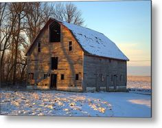 Derelict Barn Metal Print by Bonfire #Photography