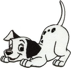 Disney 101 Dalmatians Dog Spot Embroidered Iron On Applique Patch
