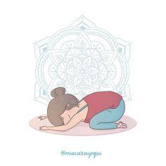 Bālāsana, Child Pose 👶 #childspose #posizionedelbambino #motivazione #yoga #meditazione #yogi #namaste #mindfulness #yogagirl #motivation #asana #yogini #yogapose #diarioyogaillustrato #yogaart #yogaillustration #miacarayogini #arteyoga #diarioyoga #arteyoga #inspiraespira #yogadoodle #yogaillustrators #mandala #om Kids Yoga Poses, Kid Poses, Pose Yoga, Yoga Illustration, Asana, Doodle, Mandala, Teddy Bear, Kids Rugs