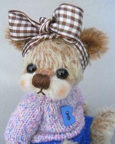 "~ Garden of  Bears ~*  "" lovely Bouba ""  * 6.3"" * Small  Artist  Bear **OOAK**"