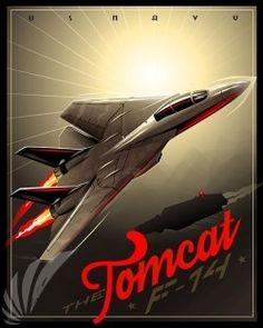 F14 Tomcat A3 Aircraft Poster Print A4