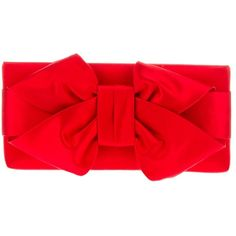 VALENTINO GARAVANI bow clutch (12,100 MXN) ❤ liked on Polyvore featuring bags, handbags, clutches, purses, accessories, carteras, bow purse, bow handbag, red handbags y silk purse