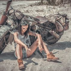 ⁦✍️⁩___⁦🖤 photo video power positivity people life love strong photographer motorcycle quoteoftheday saying love haters photooftheday day impossible important win time heaven girl guns Motorbike Girl, Motorcycle Art, Chopper Motorcycle, Lady Biker, Biker Girl, Motard Sexy, Foto Picture, Triumph, Kart
