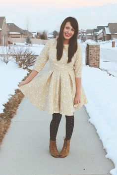 I need more long sleeved dresses | Cute winter outfit