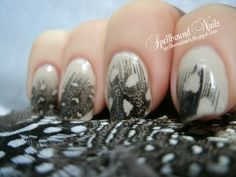 Birds of a Feather nail art.