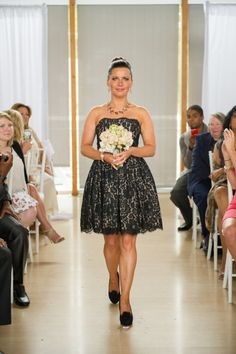 Lovely lace patterned dress from Roberto Rodriguez