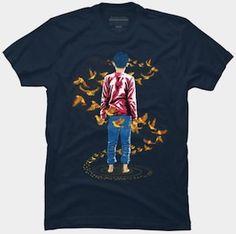 Birds Fly Around Him T-Shirt.