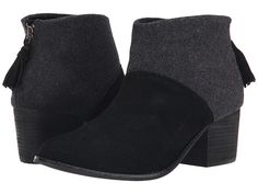 TOMS Leila Bootie Black Wool Felt - Zappos.com Free Shipping BOTH Ways
