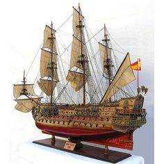 San Felipe Xl, Tall Ship Famous Ships | Nautical decor | Yacht models | Nautical themes | Handcrafted Ship Models