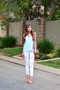 arum lilea - lookbook - forever new - ripped white denim - sissy boy jeans
