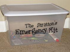 Emergency Preparedness Kit {week-by-week}