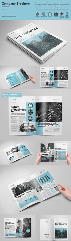 Company Brochure Tempalte #brochure Download: http://graphicriver.net/item/company-brochure-vol5/11678781?ref=ksioks