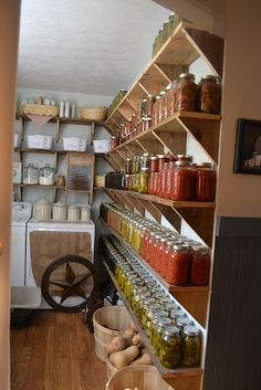 A Baker's Dozen Barnhouse News: Frugal Farmin' ~ Storin' The Harvest on *Depression* Shelves