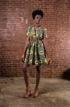 NUEVO el vestido PortiaAfrican impresión 100 por DemestiksNewYork, $150.00