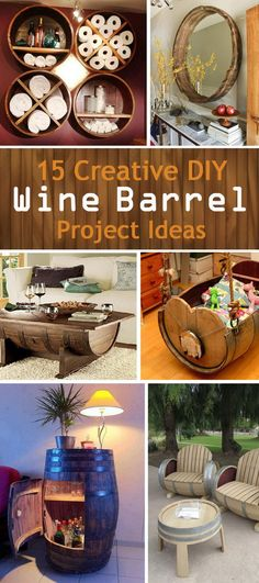 Creative DIY Wine Barrel Project Ideas!                                                                                                                                                                                 More