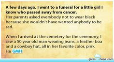 Amazing friends - A few days ago, I went to a funeral for a little girl I know who passed away from cancer.