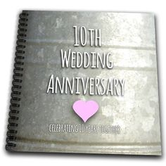 10th Wedding Anniversary Gift Tin Celebrating 10 Years Together Memory Book 12 By
