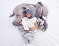 You and your little one will absolutely love this amazing Baby Elephant Pillow. It also makes the perfect baby shower gift!