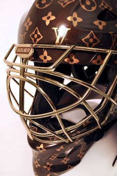 #Louis Vuitton Monogrammed: Louis Vuitton hockey goalie helmet #Luxurydotcom