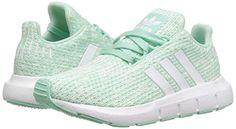 adidas Originals Kids Swift Run INF (Toddler) Girls Shoes Clear Mint White Aero  Green d2c9be269