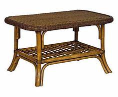 Tavolino in rattan e midollino Elegance - 82x47x56 cm