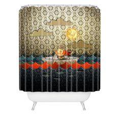 DENY Designs Jose Luis Guerrero Paper Boat Shower Curtain & Reviews | Wayfair