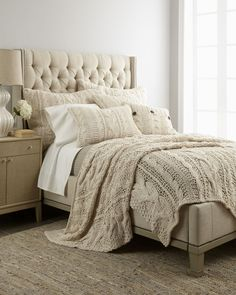 "Amity Home ""Micah"" Cable-Knit Bed Linens I want this! - Love this for a guest room. So cozy"