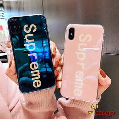 iPhone X supreme Bff Cases, Cute Phone Cases, Iphone Phone Cases, Iphone Case Covers, Friends Phone Case, Diy Phone Case, Supreme Case, Modelos Iphone, Aesthetic Phone Case