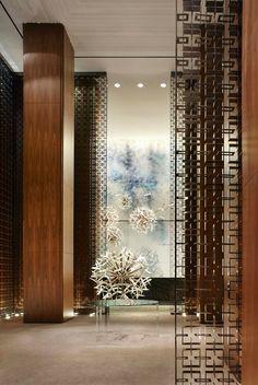 22 New Ideas Wall Design Hotel Lobby Yabu Pushelberg Top Interior Designers, Luxury Interior Design, Best Interior, Interior Decorating, Screen Design, Wall Design, Design Commercial, Yabu Pushelberg, Lobby Design