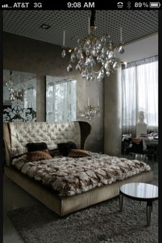 Like the mirrors behind bed